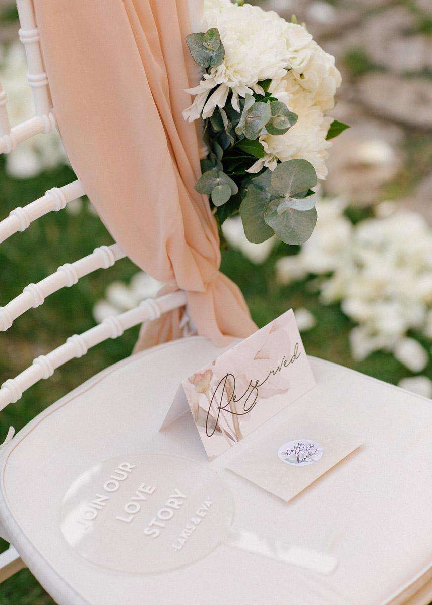 Wedding invitations greece – prosklitiria gamou – prosklisis gamou – romantic chalkidiki wedding - acrylic wedding fan