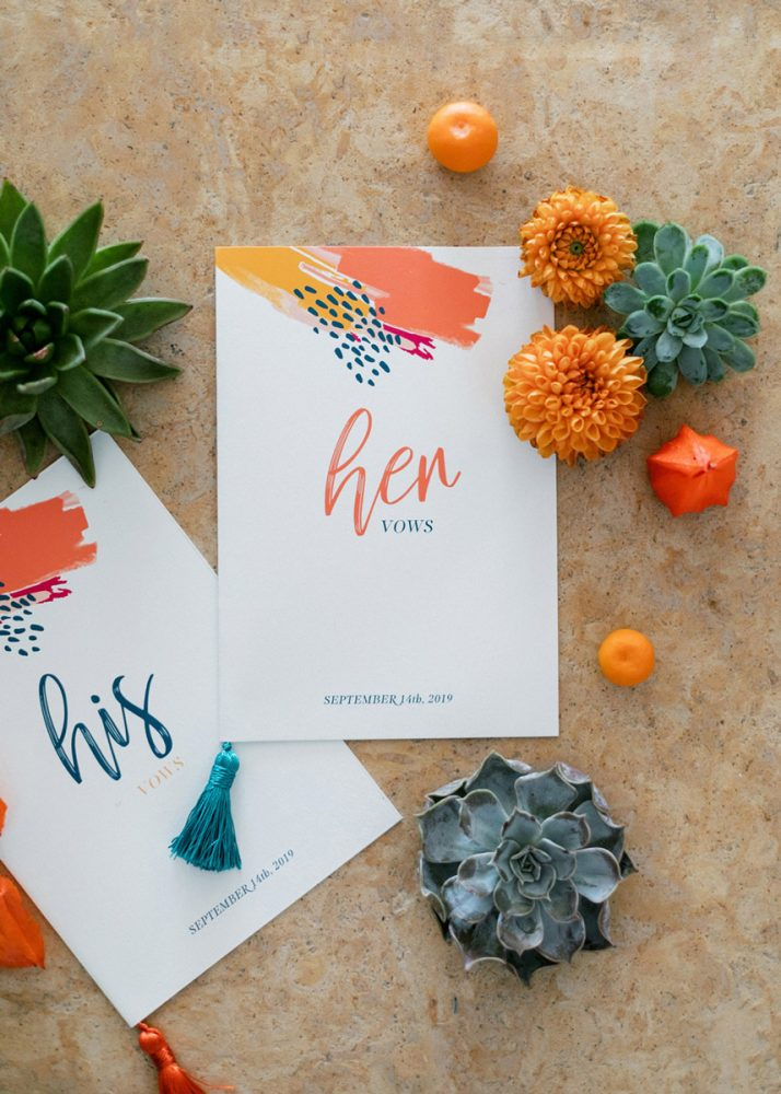 Wedding invitations greece – prosklitiria gamou – prosklisis gamou – colorful modern art wedding vow booklets