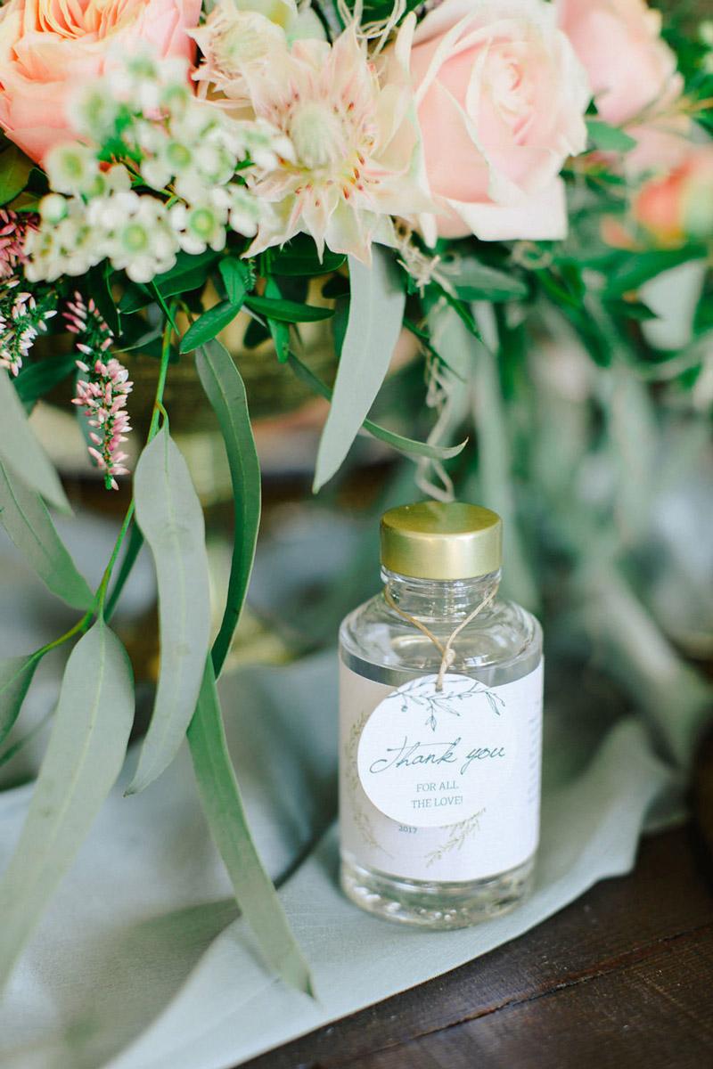 Wedding invitations greece – prosklitiria gamou – prosklisis gamou – personalised bottle wedding favor for an emerald wedding in greece