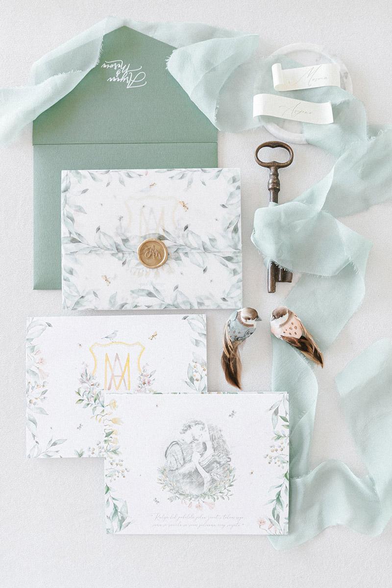 Wedding invitations greece – prosklitiria gamou – prosklisis gamou – fairytale pastels wedding - romantic pastels and floral wedding invitation suite