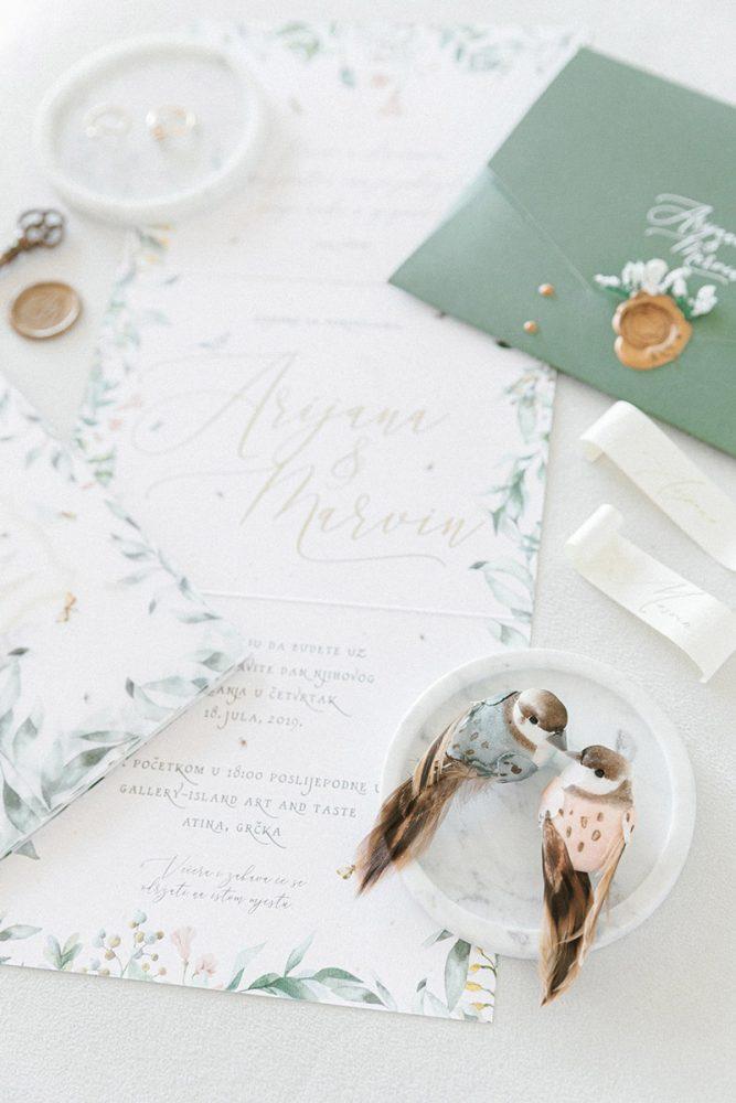 Wedding invitations greece – prosklitiria gamou – prosklisis gamou – fairytale pastels wedding - close up of wedding invitation