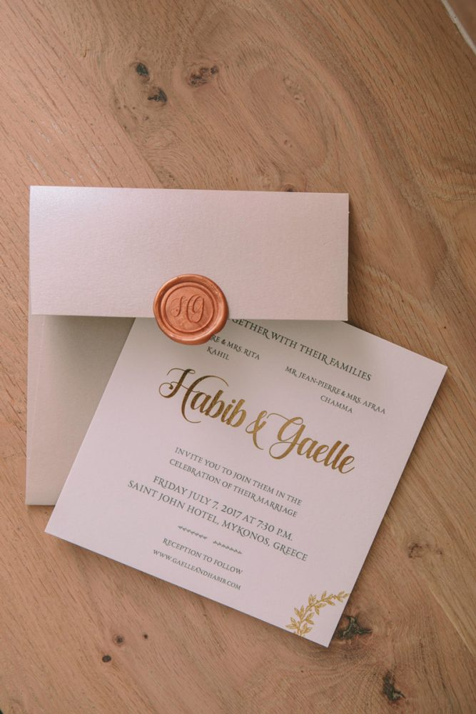 Wedding invitations greece – prosklitiria gamou – prosklisis gamou – romantic mykonos wedding - minimal and sophisticated wedding invites