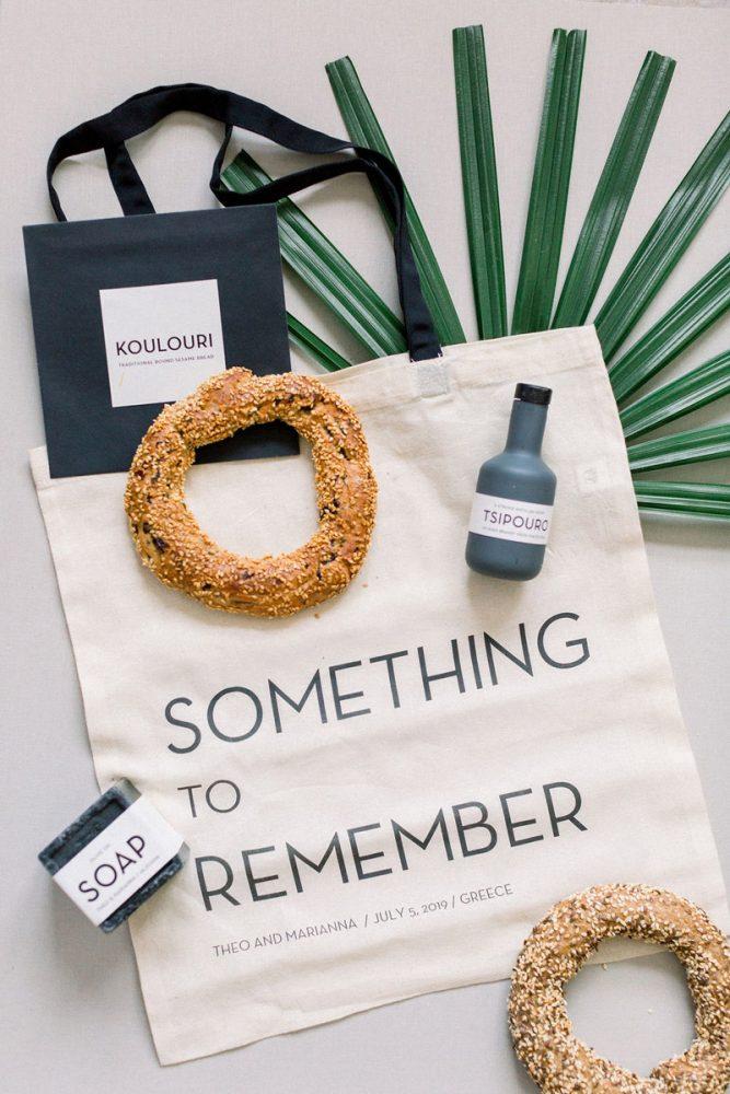 Wedding invitations greece – prosklitiria gamou – prosklisis gamou – modern and minimal wedding guest gift bag